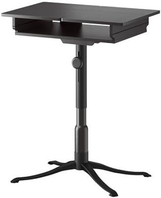 IKEA ALVE - Mesa para ordenador portátil, negro-marrón - 90x36 cm ...