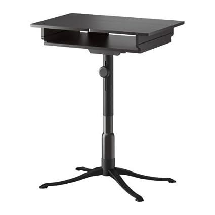 IKEA ALVE - Mesa para ordenador portátil, negro-marrón - 90x36 cm
