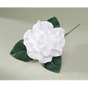 Artificial Silk White Gardenia Floral Picks - Package of 12 2