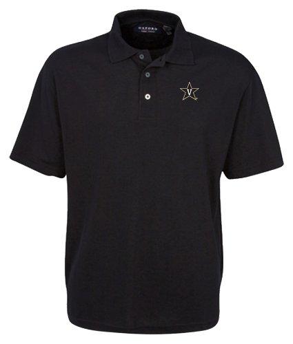 a6653126 Amazon.com : Oxford NCAA Men's Vanderbilt Commodores 3-Button Polo With  Hemmed Sleeves (Black, Medium) : Sports Fan Polo Shirts : Clothing