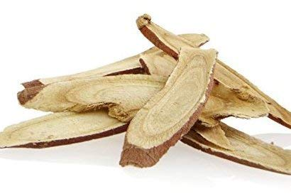 (Greenhilltea Chinese traditional herb Licorice Root 감초(甘草)-Glycyrrhiza Glabra sweet root good for detox,Weight Loss, Sore Throat, Tuberculosis, Cough, Dyspepsia, Immune Boosting Loose Root Slice 1 LB)