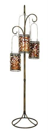 Benzara 41970 67 in. H x 16 in. W Metal Floor Candle Lantern, Outdoor Stuffs