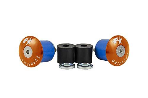 Fyxation Bar End Anodized Plugs, Orange