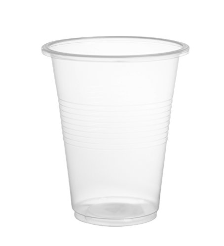 Crystalware, 9 oz. Plastic Disposable Cups, Flexible and Crack Resistant, 80 count Bargain Pack