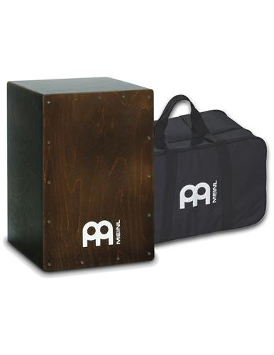 meinl-percussion-bc1br-birch-wood-cafe-cajon-in-solid-brown-finish-with-internal-snares-and-free-gig