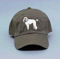 Cap: Poodle, White by NS Enterprises