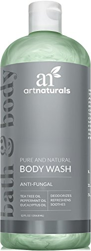 ArtNaturals Essential Body and Foot Wash Tea Tree, Peppermint and Eucalyptus Oil, Natural Eczema Soap for Antifungal Feet, Helps Kill Nail Fungus, Athletes Foot, Ringworm, Jock Itch and Odors, 12oz.