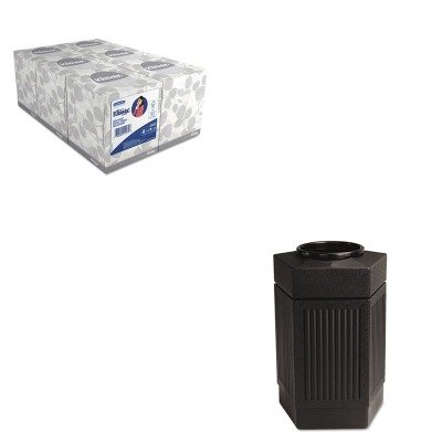 KITKIM21271SAF9485BL - Value Kit - Safco Canmeleon Indoor/Outdoor Receptacle (SAF9485BL) and KIMBERLY CLARK KLEENEX White Facial Tissue (KIM21271)