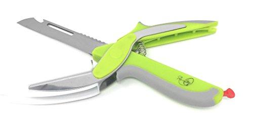 Smart Multi Purpose Knife with Food Scissors, Vegetable Slicer, Bone Cutter, Fish Scaler, Peeler, and Bottle Opener'