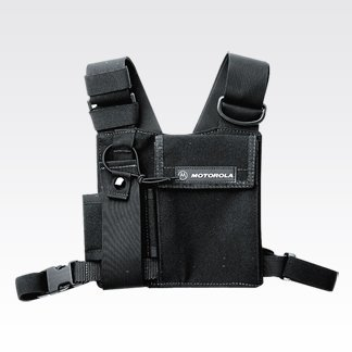 Motorola adjustable chest pack for portable radios HT750, HT125, MT850, MT8250, PR400, CT250, SP50, and CP200