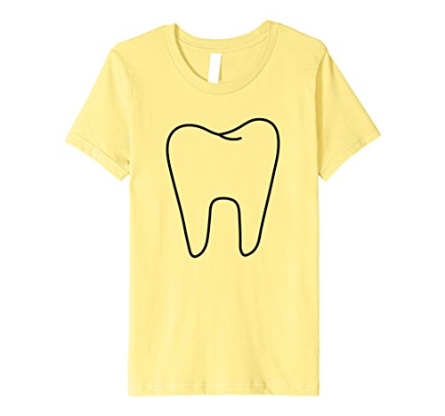 Tooth Fairy Costumes Ideas (Kids Premium Funny Tooth Fairy White Costume T shirt 8 Lemon)