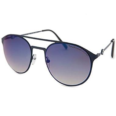 5fcf7e1448 Technomarine Cruise Thin Metal Frame Stylish Round Hipster Aviator  Mirror Gradient Lens TMEW004 Sunglasses Made