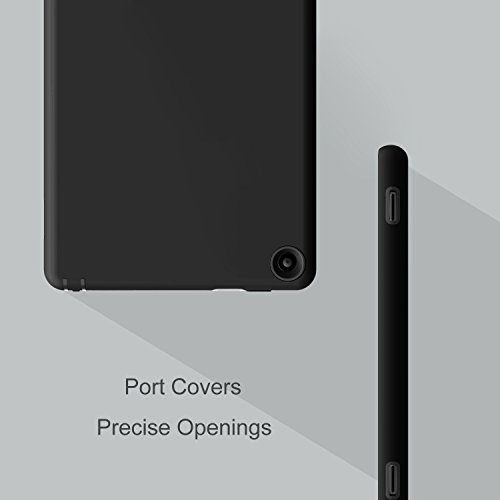 Hocase Fire HD 8 2016 Case Dual Layer Shockproof Protective Case for All-New Amazon Fire HD 8 (6th Generation, 2016 release), Black