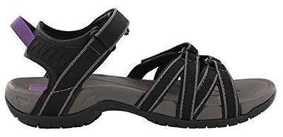 Teva Women's Tirra Athletic Sandal 6 B M US Black Grey