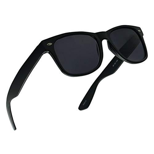 (Original 49mm Classic Spring Hinge Rx Prescription Sun Readers Stylish Reading Sunglasses for Men and Women Power +1.00 Thru +4.00 (Black Frame   Black,)