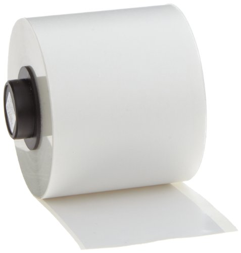 Brady High Adhesion Vinyl Label Tape (142271) - White Vinyl Film - Compatible with BMP71 and HandiMark Industrial Label Printers - 50' Length, 2