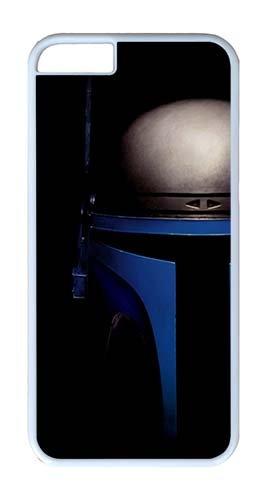 [iPhone 6 Plus Case 6S Plus Case,Custom Design Movie Star Wars Jango Fett Helmet Personalized Bumper Cover Hard Plastic PC White Case for iPhone 6] (Princess Leia White Robe)