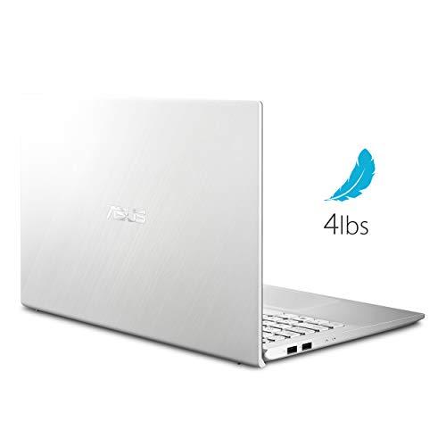 "Asus Vivobook S15 S512 Thin and Light 15.6"" FHD, Intel Core I5-8265U CPU, 8GB DDR4 RAM, 256GB PCIe Nvme SSD, Windows 10 Home, S512FA-DB51, Silver Metal"