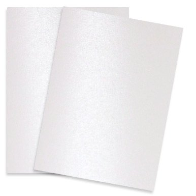 Pure Pearl White - 8.5X11 Shimmer Metallic Card Stock Paper - 100 sheets per pack