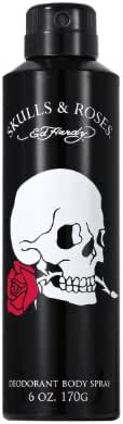 Ed Hardy Skulls and Roses Deodorant Body Spray, 6.0 Ounce