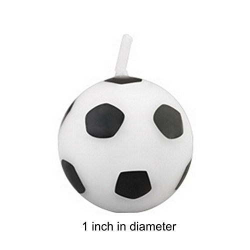 Soccer Ball Shaped Candles - 6 Pack