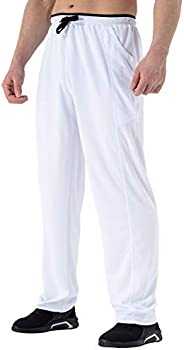 TBMPOY Mens Sweatpants Track Athletic Pants Open-Bottom Quick-Dry Breathable Workout Gym Running Pants with Po