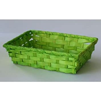 Bambuskorb Eckig Hellgrun Ph 9562 10 24x16 5x6cm Paperheart A45