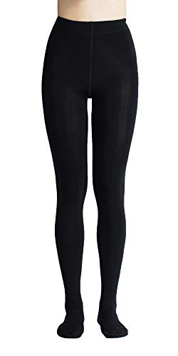 Sofie's Women Classic Opaque Fleece Lined Tights (Black, Medium)