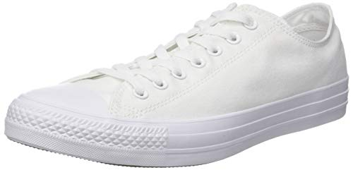 - Converse Unisex Chuck Taylor All Star Ox Low Top Classic WHITE/WHITE (CANVAS) Sneakers - Men 5.5 / Women 7.5