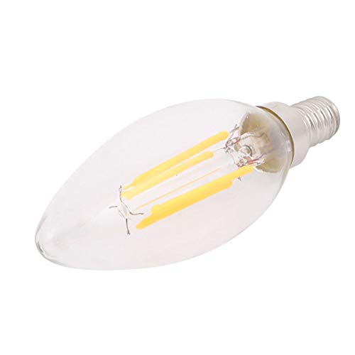 Aexit AC 220V Lighting fixtures and controls 4W C35 LED Filament Lamp Candelabra Light Bulb Dimmable E12 Warm White ()