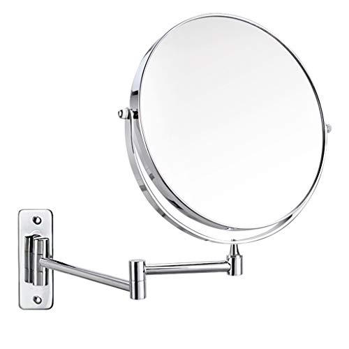 (Happy Time Makeup Mirror Double Sided Wall Hanging Bathroom Retractable Bathroom Mirror Toilet Folding Vanity Mirror Triple Magnification Makeup)