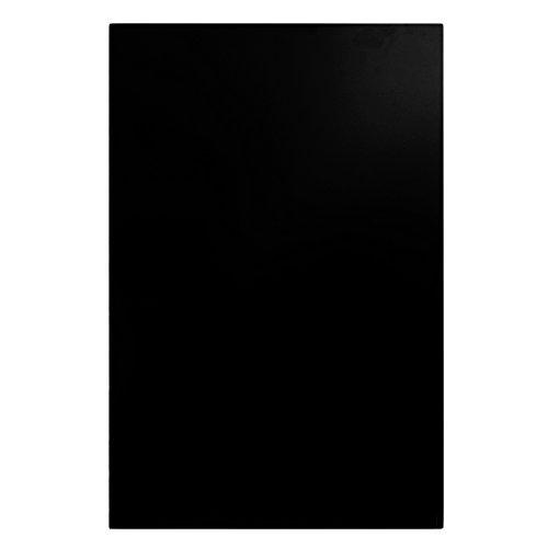 Yibuy 44 x 29cm PVC Single Layer Guitar Bass Body Blank Pickguard Sheet Matte Black (Removable Pickguard)