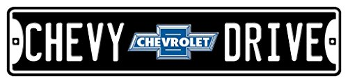 Embossed Street Sign - Chevy Drive With Logo Embossed Metal Street Sign