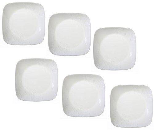 Corelle Boutique Cherish 6.5'' Square Bread or Dessert Plate (Set of 6) by Corelle