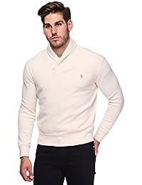 Mens French Rib Shawl Neck Sweater