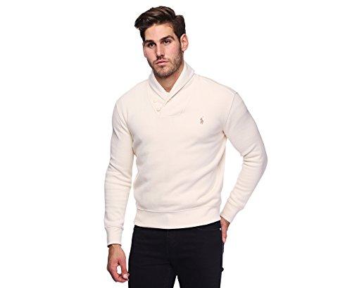 Polo Ralph Lauren Men's French Rib Shawl Sweater (L, Guide (Ralph Lauren Mens Pullover)