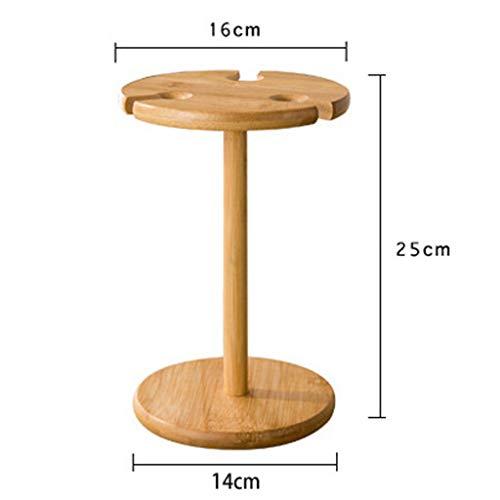 Amazon.com: Fitfulvan Soporte de madera maciza para copas de ...