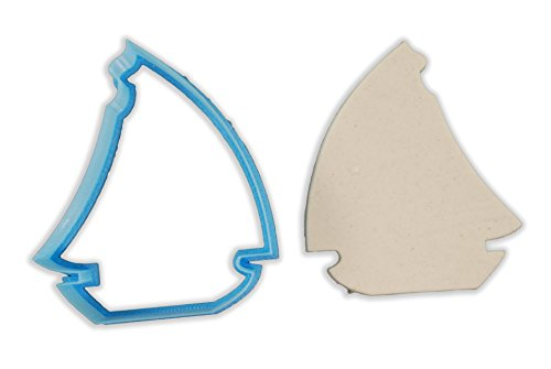 - Nautical Sail Boat Cookie Cutter - LARGE - 4 Inches