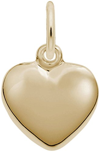 Rembrandt Heart - Rembrandt Small Puffy Heart Charm - Metal - Gold-Plated Sterling Silver