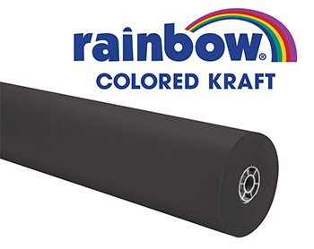 Rainbow Kraft 353012 Duo-Finish Kraft Light-Weight Paper Roll, 36 in x 100 ft,  - Colored Paper Kraft