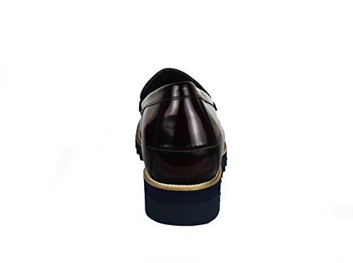 ZERIMAR Scarpe con Aumentato Interno di 8 cm Realizzata in Pelle di Alta Qualità Stile Casual 100% Pelle Colore Bordo Taglia 40