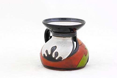 Ceramic Essential oil diffuser, Unique pottery oil burner, Handmade Art pottery, Candle and light oil burner