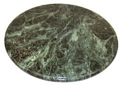 Round Green Marble Cheese and Pastry Board - 10 Inch Diameter