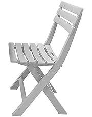 كرسي بلاستيك من الهلال والنجمة الذهبية - ابيض