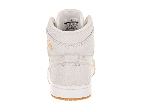 Women's Gold Jordan Basketball Retro White 1 Multicolour 107 Metallic Premium Shoe Hi Nike PP5FxrqwB