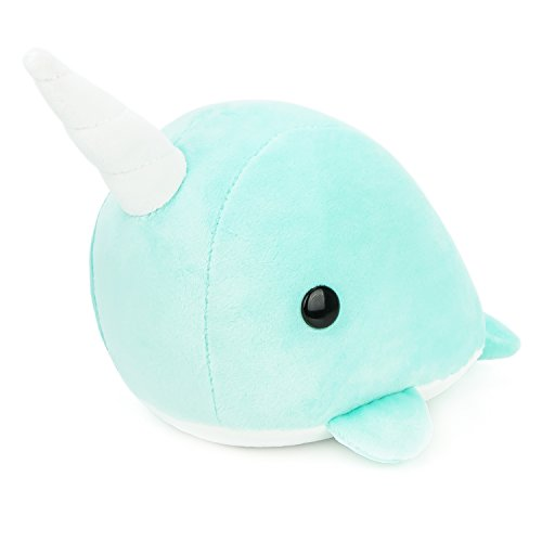 Bellzi Teal Narwhal Stuffed Animal Plush Toy - Adorable Whale Toy Plushies and Gifts! - Narrzi