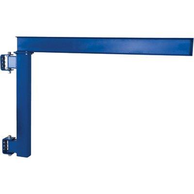 (Vestil JIB-LC-20 Manual Wall Mount Steel Jib Crane, Low Clearance 2000 lb Capacity, 180 degree Rotation, Under I-Beam to Bottom Frame 57, I-Beam 4