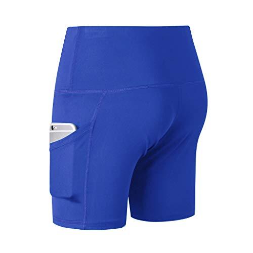 Garish  Women's High Waist Yoga Short Abdomen Control Training Running Yoga Pants Blue by Garish (Image #1)
