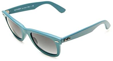 Ray Ban RB2140 Wayfarer Sunglasses-884/71 Matte Teal (Gray Grad Lens)-50mm