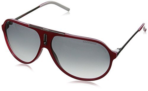 Carrera Hot Aviator Sunglasses,Red And White Frame/Grey Grad Lens,one size